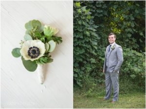 Navy and Gold Fall Wedding at The Corner District in North Georgia