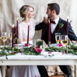 Bold + Glamorous Valentine's Day Wedding at The Corner District