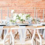 Vintage Industrial Dusty Blue Wedding Inspiration | Styled Workshop